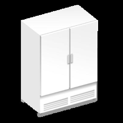 Холодильные шкафы с металлическими дверьми