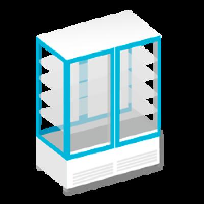 Холодильные шкафы с панорамным остеклением