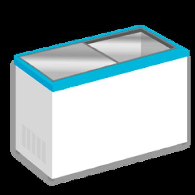 Морозильные лари с прямым стеклом